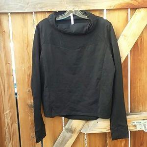 Fabletics cowl neck sweatshirt workout top xl
